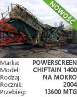 powerscreen chieftain 1400 rinser