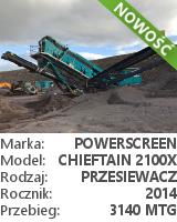 Przesiewacz Powerscreen Chieftain 2100X