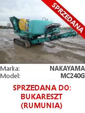 Kruszarka szczękowa Nakayama MC240G