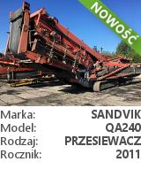 Przesiewacz Sandvik QA240