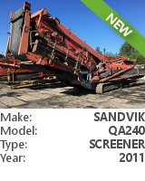Screener Sandvik QA240