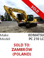 Crawler excavator Komatsu PC 210 LC
