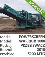 Przesiewacz Powerscreen Warrior 1800