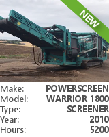 Screener Powerscreen Warrior 1800