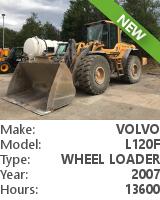 Wheel loader Volvo L120F