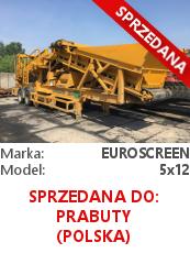 Przesiewacz kołowy Euroscreen 5x12