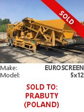 Wheeled screener Euroscreen 5x12