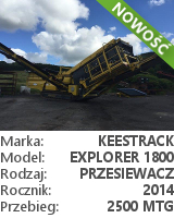 Przesiewacz Keestrack Explorer 1800 3-DECK