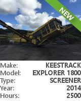 Screener Keestrack Explorer 1800 3-DECK
