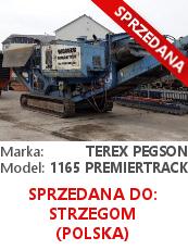 Kruszarka szczękowa Terex Pegson 1165 Premiertrack