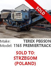 Jaw crusher Terex Pegson 1165 Premiertrack