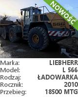 Ładowarka kołowa Liebherr L 566 2plus2
