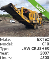 Jaw crusher Extec C10