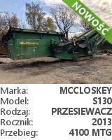 Przesiewacz McCloskey S130