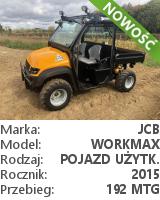 Terenowy pojazd użytkowy (UTV) JCB Workmax