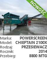 Przesiewacz Powerscreen Chieftain 2100X 3-DECK