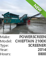 Screener Powerscreen Chieftain 2100X 3-DECK