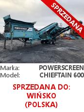 Przesiewacz Powerscreen Chieftain 600