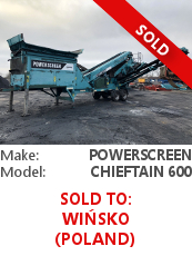 Screener Powerscreen Chieftain 600