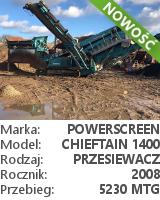 Przesiewacz Powerscreen Chieftain 1400