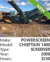 Screener Powerscreen Chieftain 1400