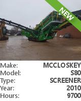Screener McCloskey S80