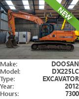 Tracked excavator Doosan DX225LC
