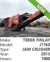 Jaw crusher Terex Finlay J1160