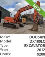 Tracked excavator Doosan DX180LC