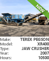 Jaw crusher Terex Pegson XR400