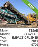 Impact crusher Tesab RK 623 CT