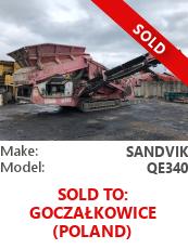 Screener Sandvik QE340 (Extec E7)