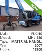 Material handler Fuchs MHL 340