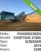 Screener Powerscreen Chieftain 2100X 3-DECK