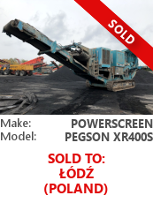 Jaw crusher Powerscreen Pegson XR400S