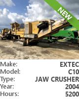 Jaw crusher Extec C10