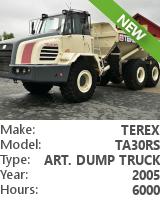 Articulated dump truck Terex TA30RS