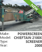 Screener Powerscreen Chieftain 2100X 2-DECK