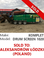 Drum screener Komplet Drum Screen 1020