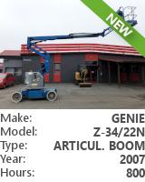 Self-Propelled Articulating Boom Genie Z-34/22N