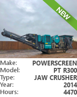 Jaw crusher Powerscreen Premiertrak R300