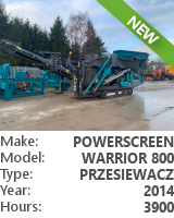 Screener Powerscreen Warrior 800