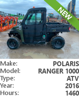 Utility vehicle (UTV, ATV) Polaris Ranger 1000