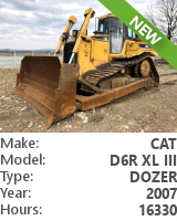 Dozer Cat D6R XL III