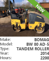 Tandem roller Bomag BW 80 AD-5