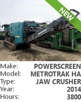 Jaw crusher Powerscreen Metrotrak HA