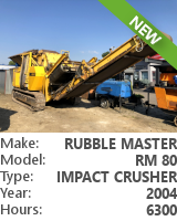 Impact crusher Rubble Master RM 80