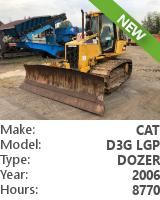 Dozer Cat D3G LGP