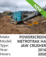 Jaw crusher Powerscreen Metrotrak HA